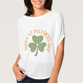 Gingham Shamrock with Happy St Patricks Day Shirt