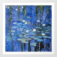water lilies a la Monet Art Print by Jo.PinX
