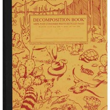 Desert Animals Decomposition Book: College-ruled Composition Notebook With 100% Post-consumer-waste Recycled Pages