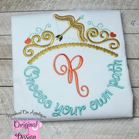 Brave Princess Merida Inspired Monogram Tiara with Phrase - Princess Movie - Custom Tee