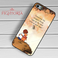 Winnie The Pooh Quote -ssrh for iPhone 6S case, iPhone 5s case, iPhone 6 case, iPhone 4S, Samsung S6 Edge