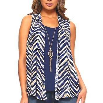 Zig Zag Sleeveless Top and Attached Camisole