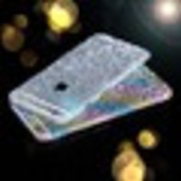 Full Body Matte Glitter Bling Skin Sticker for 4/4S 5/5S/6/6s/6Plus/6sPlus/7/7 Plus