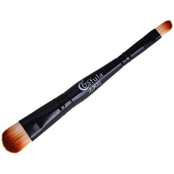 Fafula Makeup Tool Double-ended Contour Define Eye Shadow Brush in Black