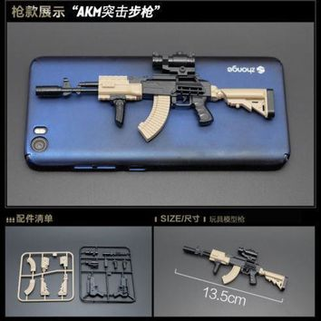 6 pcs Assault Rifle Model 1/6 scale Collectible Gun Toys DIY Weapon Accessories