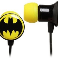 DC Comics Batman Logo Metal Ear Buds
