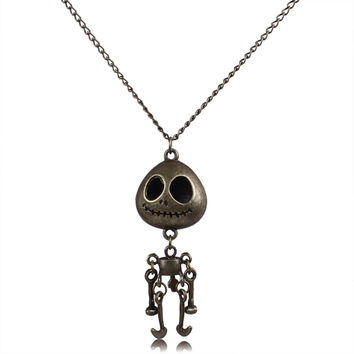 Vintage Skeleton Skull Robot Necklace For Men (PWN0187)