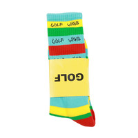 GOLF STRIPED SOCK BLUE,YELLOW, GREEN, RED