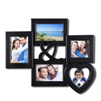Decorative Black Plastic Wall Hanging Collage Ampersand Picture Photo Frame