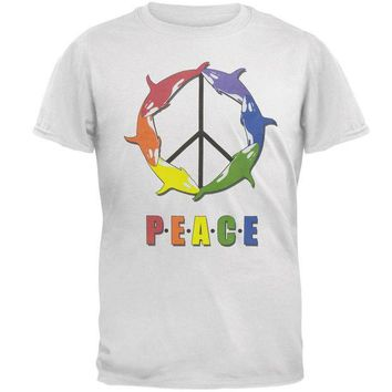 PEAPGQ9 Peace Orca Adult T-Shirt