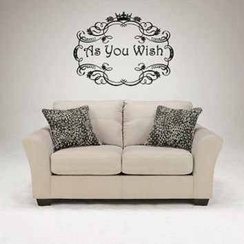 As You Wish quote wall sticker quote decal wall art decor 4548