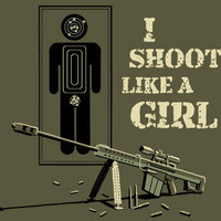 SPLITREASON.COM :: Shoot Like a Girl baby tee