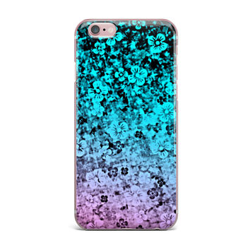 "Ebi Emporium ""Flower Power in Aqua"" Blue Purple iPhone Case"