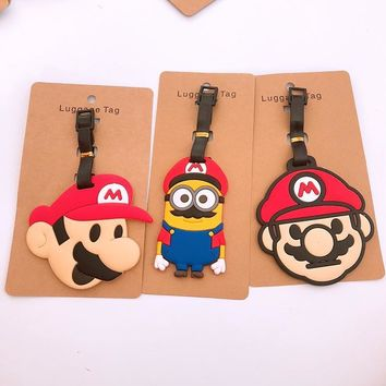 Super Mario party nes switch  brothers Luggage Tag Travel Accessories Cute Cartoon ID Address Holder Baggage Label new AT_80_8