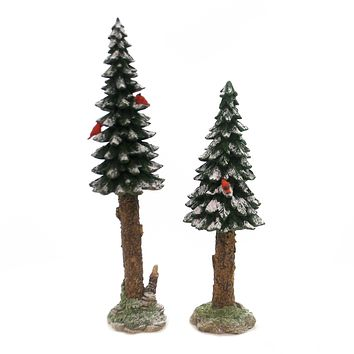 Department 56 Accessory TOWERING PINES SET / 2 Polyresin Retired Villages 52632