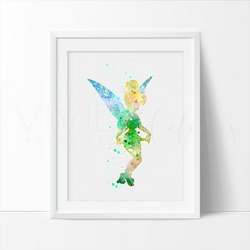 Tinkerbell 2 Watercolor Art Print