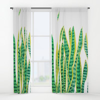 snake plant Window Curtains by Color and Color