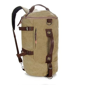 Vintage Large Capacity Canvas Travel Bags Luggage Trip Bag Men Military Duffle Bags For Male Malas Para Viagem Coffee for Man