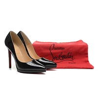 Christian Louboutin Black Patent Leather High Heels 120mm