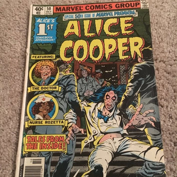 5 DAY SALE (Ends Soon) Vintage 1979 Alice Cooper 50th issue of Marvel Premiere - A Marvel Limited Comics Series