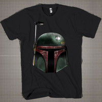 Star Wars Green Helmet  Mens and Women T-Shirt Available Color Black And White
