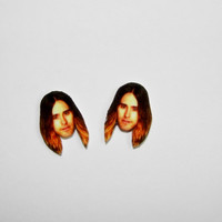 Jared Leto Face Stud Earrings Fun Novelty Gag Gift Post Earrings