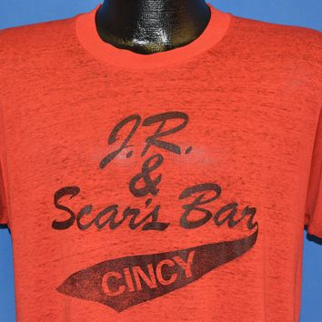 80s JR and Sear's Bar In Cincy Distressed t-shirt Large