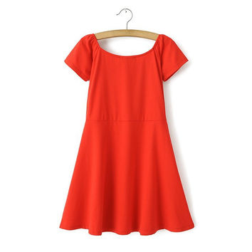 Stylish Summer Cotton Skater Dress [4914974084]