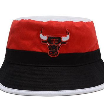 PEAPON Chicago Bulls Full Leather Bucket Hats