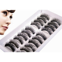 New Arrival Fashion 10 Pairs Thick Fake Eyelashes False Eye Lash Make Up Kit Mink Eyelash Extensions False Eyelashes