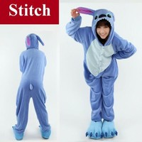 Disney Stitch Animal Unisex Onesuit Kigurumi Fancy Dress Costume Hoodies Pyjamas
