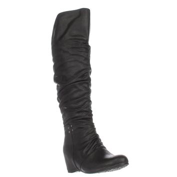 BareTraps Valry Over-The-Knee Slouch Boots, Black, 5 US