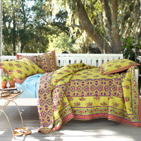 Gypsy Bed Sham - Quilted Sham, Quilted Throw, Indian Print, Floral Print | Soft Surroundings