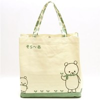 big polar bear canvas bag with plants by Shinzi Katoh - Shoulder Bags - Bags - Accessories