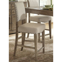 Liberty Weatherford Upholstered Nailhead Bar Stools (Set of 2)