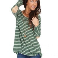 Waiting Game Top in Green | Monday Dress Boutique