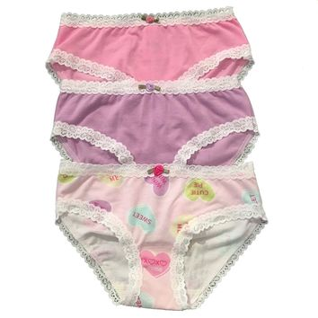 Esme Colorful Printed Three Pack of Undies Sweethearts