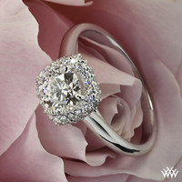 "18k White Gold ""Selene"" Solitaire Engagement Ring"
