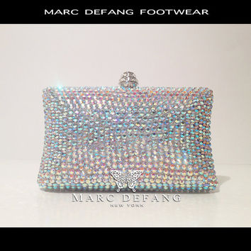 Bridal AB Crystal Rainbow Clutch Bag