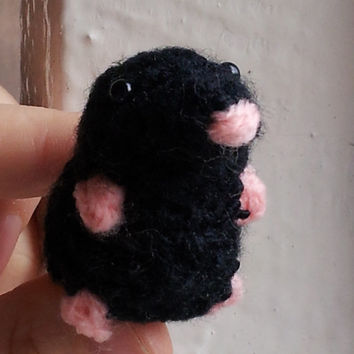 Mini Mole - cute amigurumi crochet plush stuffed miniature micro British English wildlife