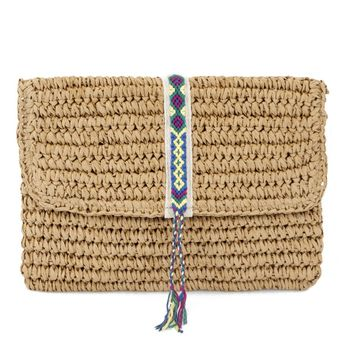 Fallon + Royce - Straw Clutch Purse