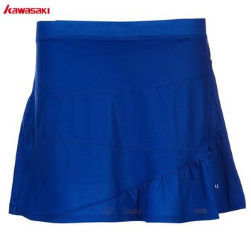 2018 Kawasaki Original Badminton Tennis Skorts Summer Fitness Outdoor Sports Breathable Mini Skirts For Women Ladies SK-T2702