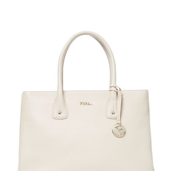 Furla Women's Serena Medium Grained Leather Tote - Camel