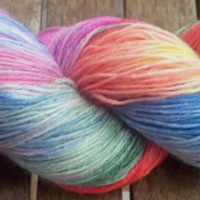 Hand Dyed Yarn - Rainbow - Superwash Merino Wool, 4 ply Fingering/Sock Weight Yarn 100gr