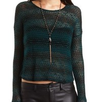 Layered Sweater Knit & Chiffon Top by Charlotte Russe