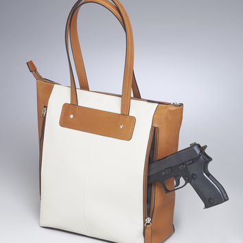 Two-Tone Concealed-Carry Purse