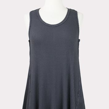 Jen Thermal Tank in Charcoal