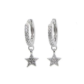Starlette Drop Earring - Sterling Silver