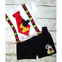 Boys Mickey Mouse 1st Birthday Outfit, Mickey Mouse Birthday, Boys Birthday Outfit