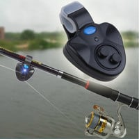 New Black Electronic L Light Fish Bite Sound Alarm Bell Clip On Fishing Rod HO W_C = 1651269380